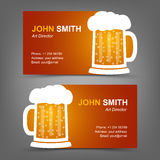 Bière de carte de visite professionnelle de visite Photographie stock