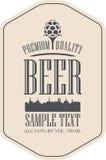 Bière de label avec la vieille ville illustration libre de droits