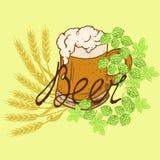 Bière de logo illustration stock