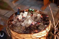 Bière en vente La chute est saison très colorée photo stock