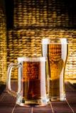 Bière en verre images stock