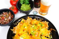Bière et Nacho photos stock
