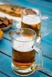 Bière et poissons Image libre de droits