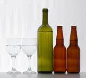 Bière et vin images stock
