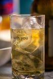 Bière fraîche avec de la glace Photo libre de droits