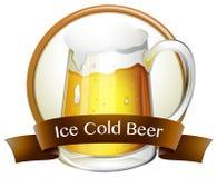 Bière glacée illustration stock