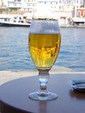 Bière par la mer Image stock