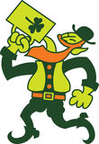 Bière potable d'homme irlandais de jour de Patricks de saint Image stock