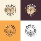 Bière pression Logo Template Image stock