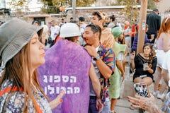 BIÈRE SHEVA, ISRAËL - 1ER MARS 2018 : Mascarade de rue de Purim sur la rue en bière-Sheva Jour heureux de purim en Israël Photos libres de droits