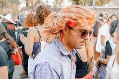 BIÈRE SHEVA, ISRAËL - 1ER MARS 2018 : Mascarade de rue de Purim sur la rue en bière-Sheva Jour heureux de purim en Israël Photographie stock libre de droits