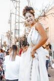 BIÈRE SHEVA, ISRAËL - 1ER MARS 2018 : Mascarade de rue de Purim sur la rue en bière-Sheva Jour heureux de purim en Israël Photographie stock