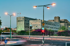 Bière-Sheva, le nom central Ruger, université de rue de Ben-Gurion Images stock