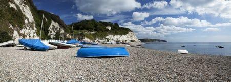 Bière sur la côte jurassique de Devon Image libre de droits