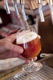 Bière sur la prise Image libre de droits