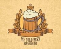 Bière sur le robinet Image stock