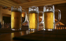 Bière trois Photographie stock