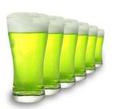 Bière verte Photos libres de droits