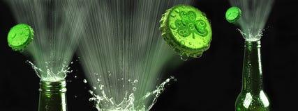 Bière verte photos stock