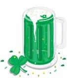 Bière verte Image stock