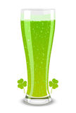 Bière verte de vecteur pour le jour de rue Patricks Photographie stock libre de droits