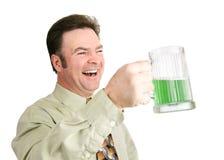 Bière verte le jour de St Patricks Photos libres de droits