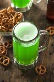 Bière verte pour le jour de St Patrick Photo libre de droits