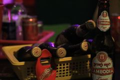 Bières du Cambodge images stock