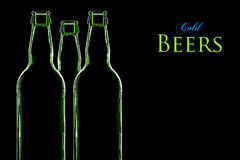 Bières froides Photographie stock libre de droits
