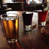 bières trois Image libre de droits