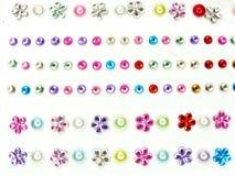 Biżuteria klejnotu jaskrawi kryształy jako tło Obraz Stock