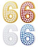 biżuteria liczba sześć Fotografia Stock