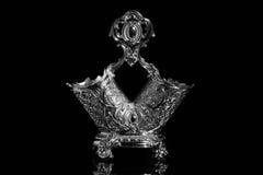 Biżuteria piękny srebny ornament z odbiciem Obraz Royalty Free