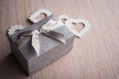 Biżuteria prezenta pudełko Obrazy Stock
