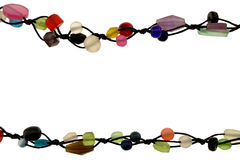 Biżuteria z barwionymi koralikami obrazy stock