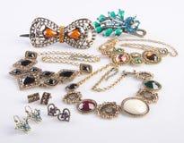 Biżuterii kolekcja biżuterii kolekcja na tle zdjęcie royalty free