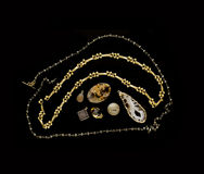 Biżuterii projektować - klejnoty, kamienie i kolie, Zdjęcie Stock