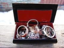 Biżuterii pudełko Zdjęcie Royalty Free