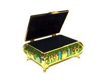 Biżuterii pudełko dla otwartego Zdjęcia Royalty Free