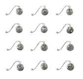 biżuterii srebny symboli/lów dwanaście zodiak Obraz Royalty Free