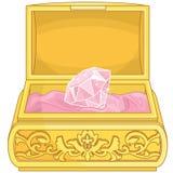 Biżuterii szkatuły Princess fantazja elementy Obraz Royalty Free