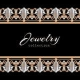 Biżuterii złota granicy rama Zdjęcia Stock
