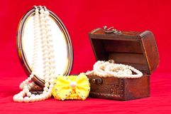 Biżuteryjny pudełko Fotografia Royalty Free
