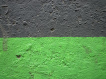 Bi colour. Old wall painted in two colors Royalty Free Stock Photo