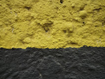 Bi colour background. Old wall painted in two colors royalty free stock photos