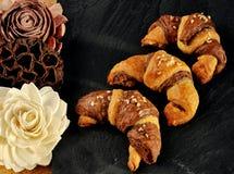 Bi-colored croissant. Stock Image