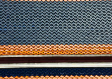 Bi colour of thai's roof Royalty Free Stock Image