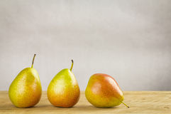 Bi-coloured forelle pears Stock Photography
