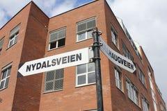 Bi-directionnel à l'université de la Norvège Image libre de droits