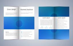 Bi-fold business brochure template, vector illustration Stock Images